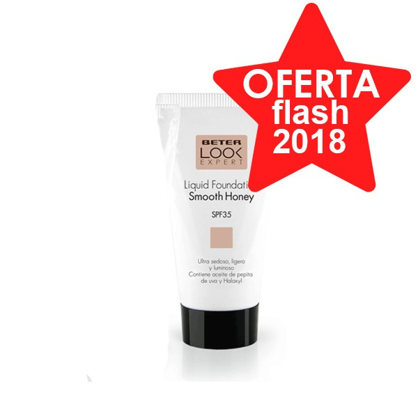 Beter Look Expert Base de Maquillaje Líquida SPF35, Tono Smooth Honey