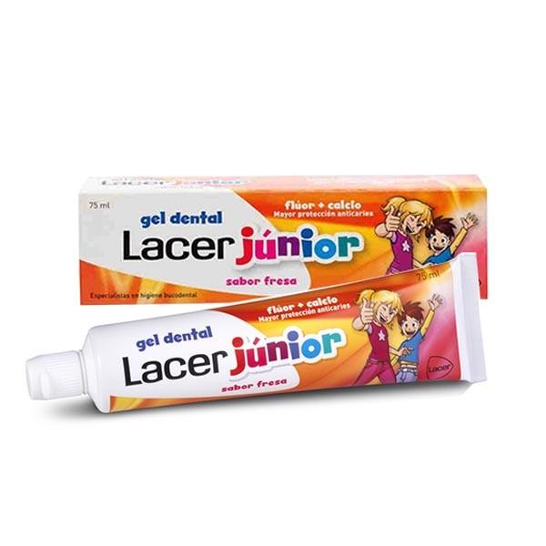 Lacer Gel Dental Junior Fresa, 75 ml ! Farmaconfianza