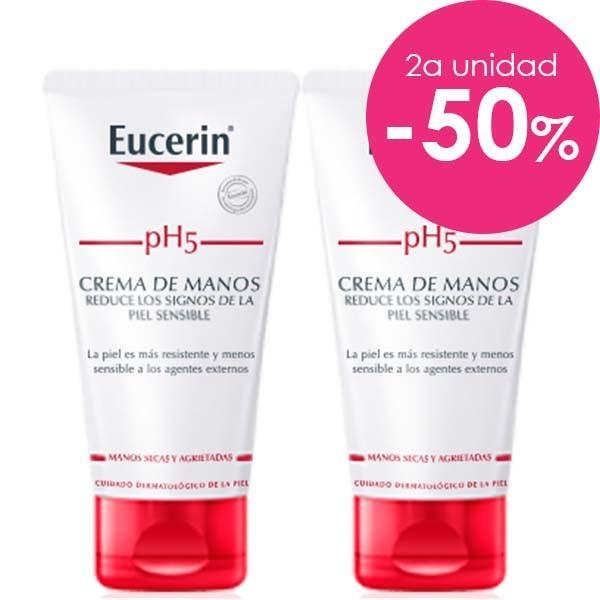 Eucerin pH5 DUPLO Crema de manos, 2 x 75 ml. ! Farmaconfianza