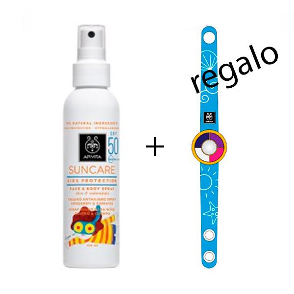 Apivita Suncare Kids Protection Leche en Spray SPF50   Farmaconfianza