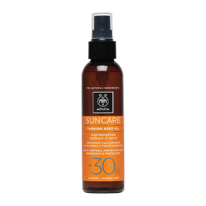 Apivita Suncare Aceite bronceador de cuerpo SPF30 Spray 150ml   Farmaconfianza