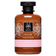 Apivita Rose Pepper Gel de Ducha con Aceites Esenciales, 300 ml.