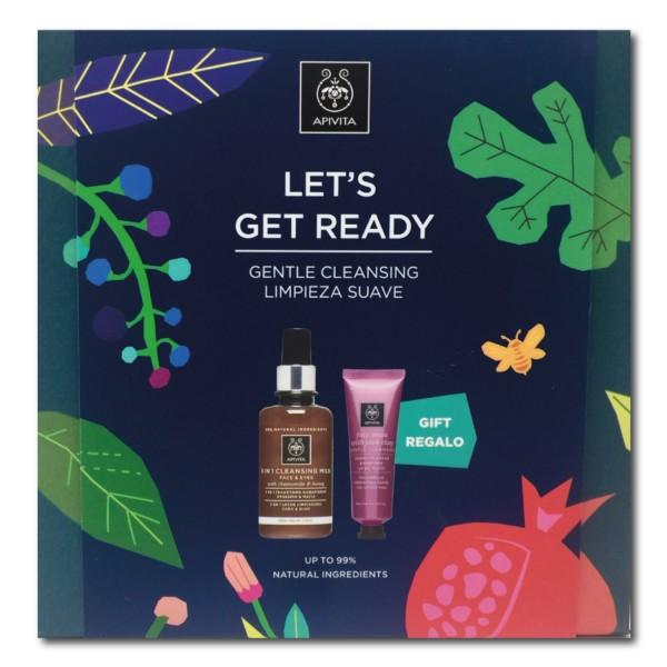 Apivita Pack Leche Limpiadora 3 en 1 + REGALO mascarilla arcilla rosa | Farmaconfianza|