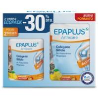 EPAPLUS ECOPACK Colágeno + Silicio (+ Hialurónico + Mg + Vitaminas) Sabor Limón, 2 x 334g