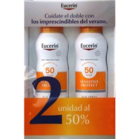 EUCERIN SUN 50 SPRAY TRANSPARENTE DRY 200 ML 2 UNIDAD 50% DUPLO