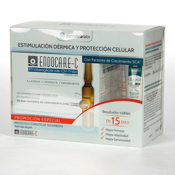 Endocare C Proteoglicanos Oil Free, 30 ampollas   Farmaconfianza