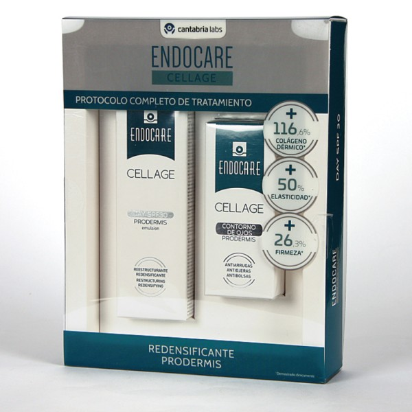 Endocare PACK Cellage Prodermis Day SPF30 50 ml + Cellage Contorno de Ojos 15 ml
