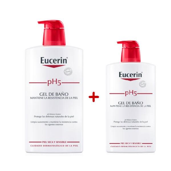 Eucerin pH5 Gel de baño 1000 ml + 400 ml de Regalo