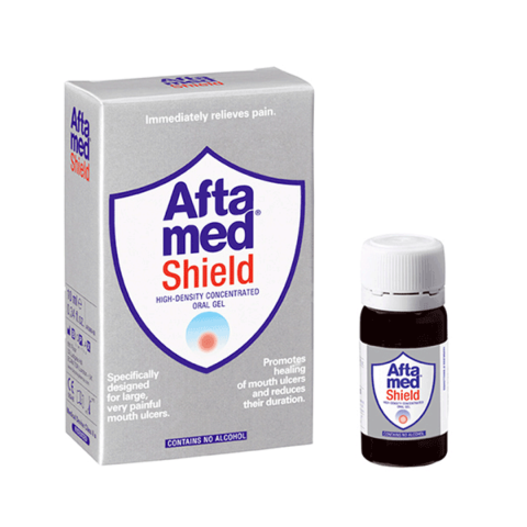 Aftamed Shield Escudo para Úlceras Bucales, Gel Alta Densidad, 10 ml