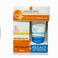 La Roche Posay Kit de Viaje Anthelios W Ultra-Ligera Sport Gel SPF30 100ml + REGALO Posthelios 100ml. | Farmaconfianza