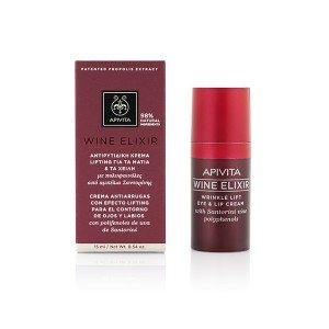 Apivita Wine Elixir Contorno Antiarrugas de Ojos y Labios, 15 ml