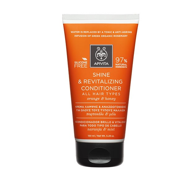 Apivita Acondicionador Brillo y Vitalidad para todo tipo de cabellos, 150 ml