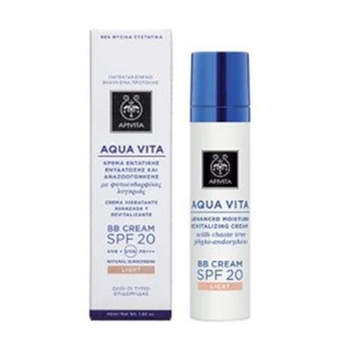 Apivita Aqua Vita BBCream Hidratante Revitalizante SPF20 tono claro, 40 ml