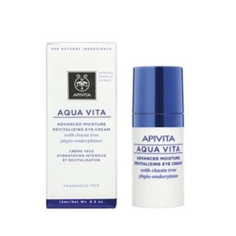 Apivita Aqua Vita Crema Hidratante y Revitalizante Contorno de Ojos, 15 ml