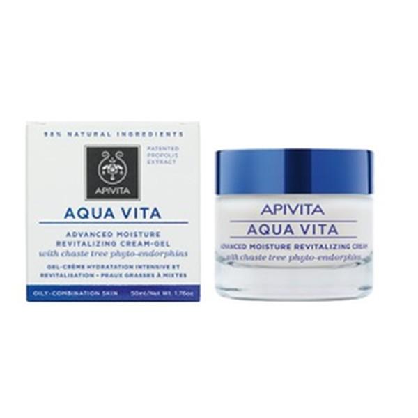 Apivita Aqua Vita Crema Gel Avanzada Revitalizante para Pieles Mixtas, 50 ml