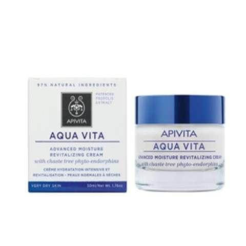 Apivita Aqua Vita Crema Avanzada Revitalizante para Pieles Muy Secas, 50 ml