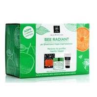 Apivita Bee Radiant Cofre Oferta Crema Ligera Iluminadora + Regalo Leche Limpiadora y mascarilla
