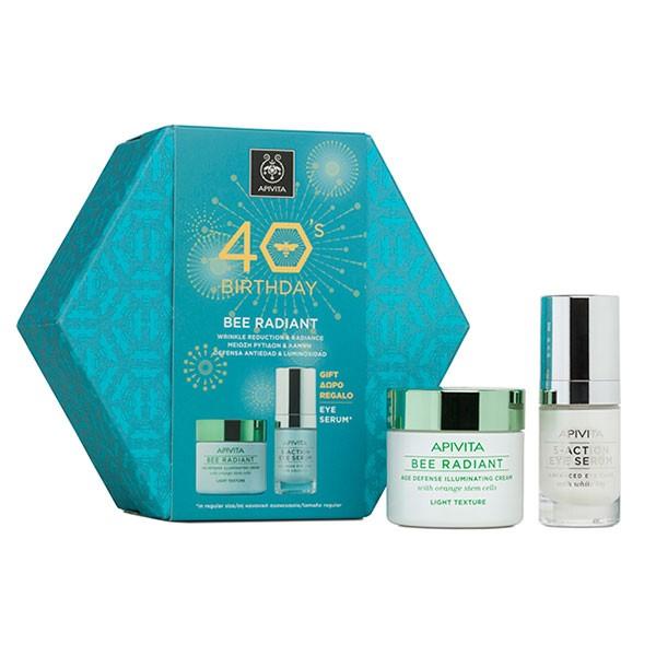 Apivita Cofre 40 aniversario Bee Radiant Crema Ligera + REGALO | Farmaconfianza