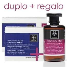 Apivita Cápsulas Anticaída para el Cabello, DUPLO 2x30 cápsulas + REGALO Propoline Champú Tonificante, 250 ml | Farmaconfianza