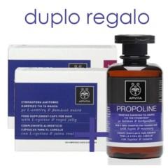 Apivita Cápsulas Anticaída para el Cabello, DUPLO 2x30 cápsulas + REGALO Champú Tonificante para hombres | Farmaconfianza