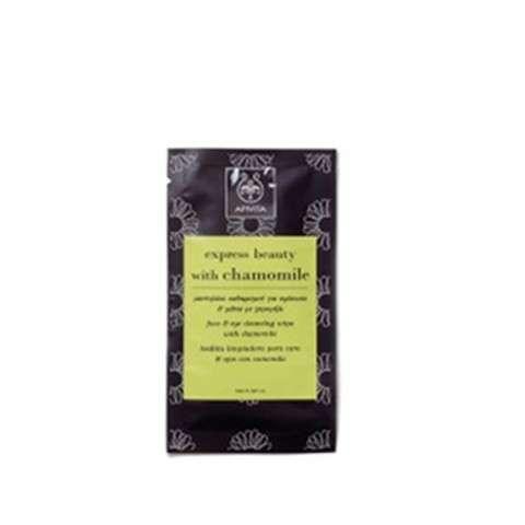 Apivita Express Beauty Toallita limpiadora para rostro y ojos con manzanilla