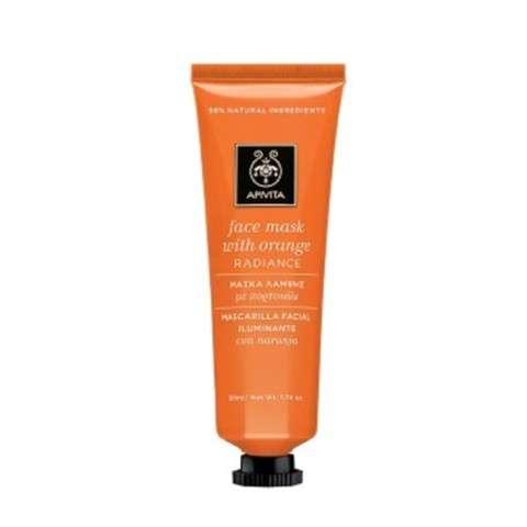 Apivita Mascarilla Facial Radiance Iluminadora con Naranja, 50 ml