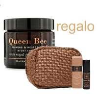 Apivita Queen Bee Crema de Noche Antienvejecimiento Holística, 50 ml. con REGALO Neceser con Talla de Viaje.
