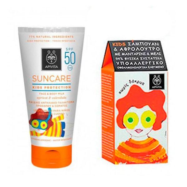 Apivita Suncare Kids Protection Leche SPF50, 150 ml + REGALO | Farmaconfianza