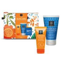 Apivita Suncare Neceser Crema Solar Facial Antimanchas SPF50, 50 ml + REGALO After Sun, 100 ml | Farmaconfianza