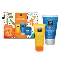 Apivita Suncare Neceser Crema Solar Facial Oil Balance SPF30, 50 ml + REGALO After Sun, 100 ml | Farmaconfianza