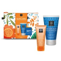 Apivita Suncare Neceser Crema Solar Facial Sensitive SPF50, 50 ml + REGALO After Sun, 100 ml | Farmaconfianza