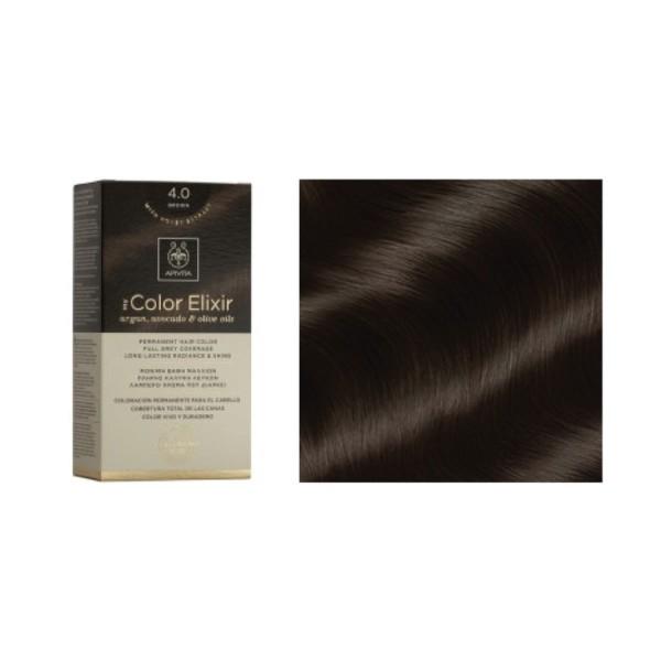 Apivita Tinte para el Cabello sin PPD, color 4.0 castaño | Farmaconfianza