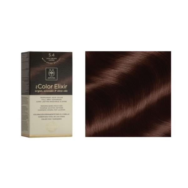 Apivita My Color Elixir 5.4 Castaño Claro Cobrizo | Farmaconfianza