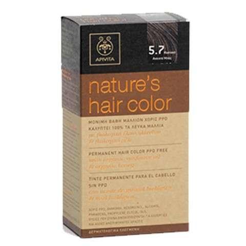 Apivita Tinte para el Cabello sin PPD, color 5.7 castaño claro beige