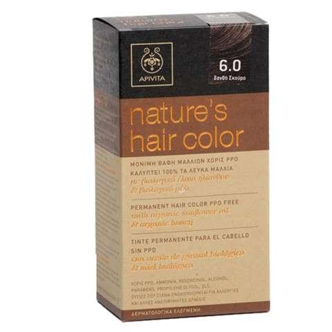 Apivita Tinte para el Cabello sin PPD color 6.0 rubio oscuro | Farmaconfianza