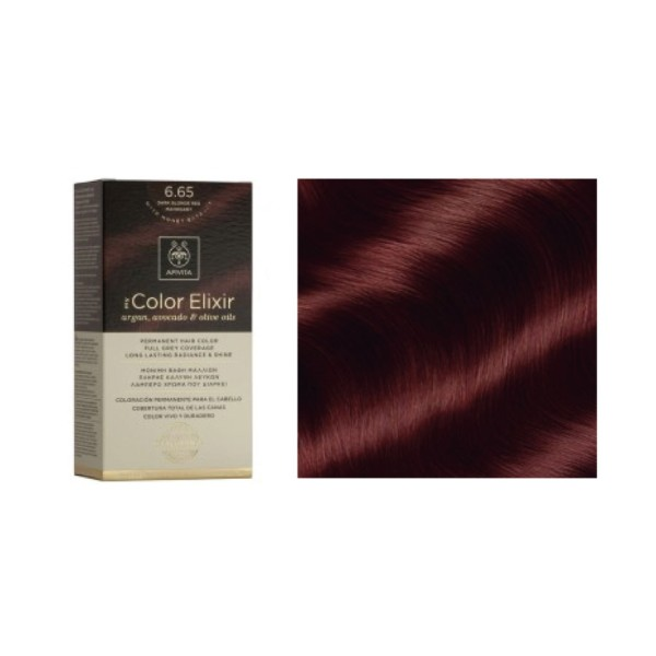 Apivita My Color Elixir 6.65 Rubio Oscuro Caoba | Farmaconfianza
