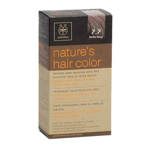 Apivita Tinte para el Cabello sin PPD, color 7.7 rubio beige