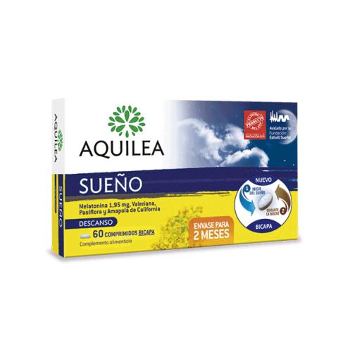 Aquilea Sueño Melatonina, Valeriana, Pasiflora y Amapola, 60 comprimidos bicapa   Farmaconfianza