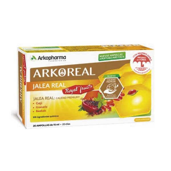 Arkopharma Jalea Real Royal Fruits, 20 amp. | Farmaconfianza