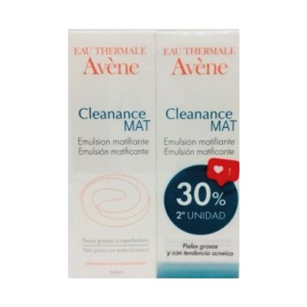 Avène Cleanance Mat DUPLO 30% 2ª unidad, 2 x 40 ml