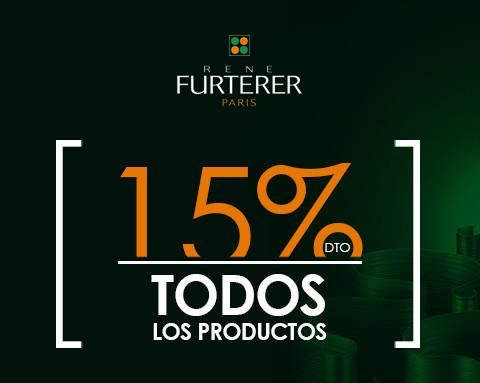 Rene Furterer 15% descuento en todos los productos