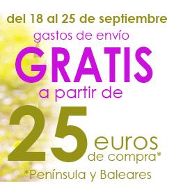 Gastos de envio GRATIS a partir de 25 euros de compra