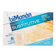 BIMANAN Barrita Sustitutive Yogur, 8 unidades