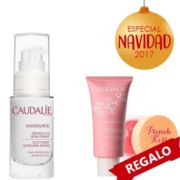 Caudalie Vinosource Sérum + REGALO Crema Sorbete Hidratante + French Kiss Seduction Bálsamo Pack Navidad 2017|Farmaconfianza