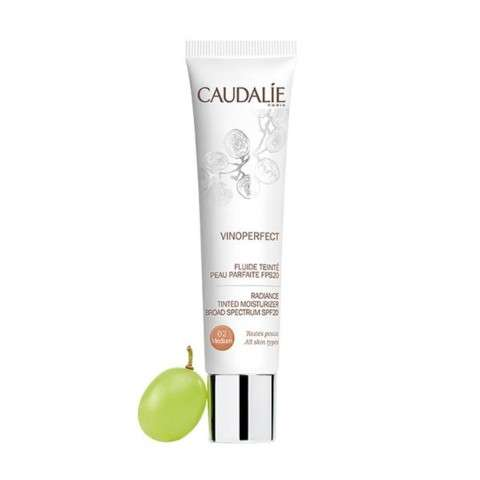 CAUDALIE Vinoperfect Fluido Piel Perfecta Con Color FPS20 Medium, 40 ml