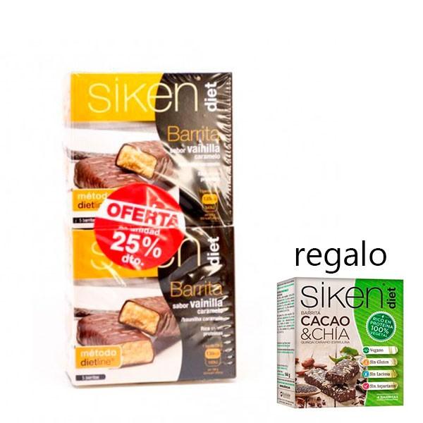 Siken Diet DUPLO Barrita de Vainilla-Caramelo, 2ª unidad -25%