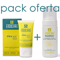 Endocare Pack Oferta Hidratación Profunda Endocare Day SPF30, 40ml + Endocare Aquafoam Limpiador Facial, 125 ml