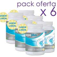 EPAPLUS Colágeno + Hialurónico + Magnesio + Vitaminas, sabor limón pack 6 x 332 g