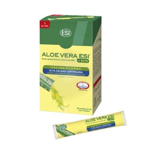 ESI Pocket Drink Zumo Forte ALOE VERA, 24 unidades x 20 ml.