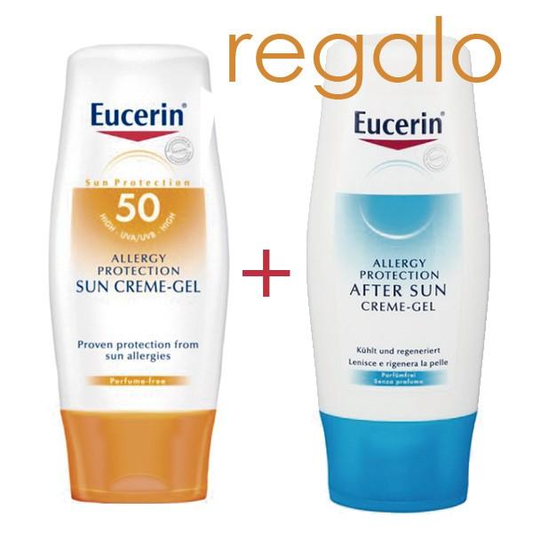 Eucerin Sun Allergy Protection Creme Gel SPF50, 150 ml. | Farmaconfianza